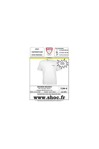 Tee-shirt SECURITE blanc