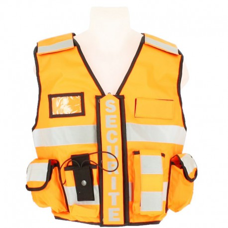 Gilet Tactique Sécurité orange