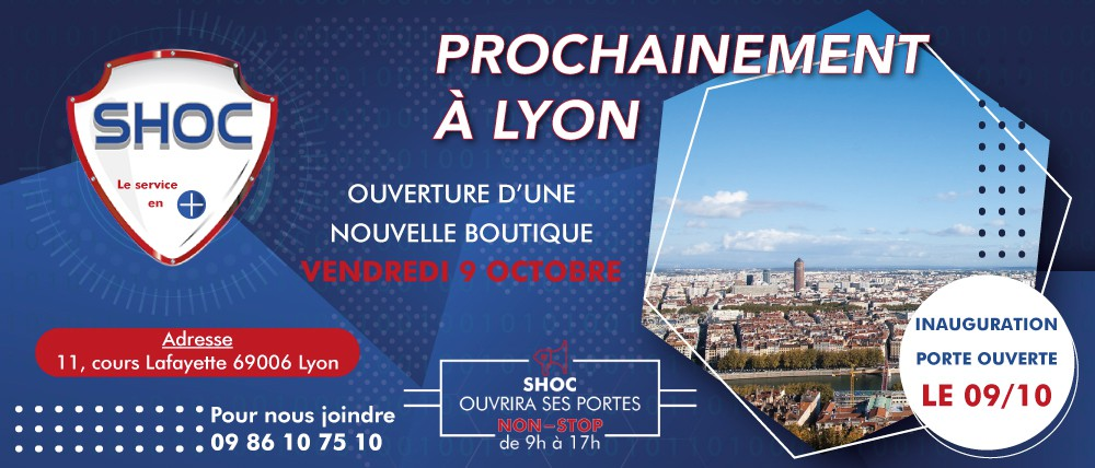 OUVERTURE D'UNE NOUVELLE BOUTIQUE À LYON - PORTES OUVERTES LE 9 OCTOBRE 2020 DE 9H À 17H NON STOP